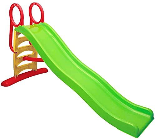 scivolo per bambini esterno Scivolo per Bambini da Giardino da casa Esterno Interno Grande 3 Anni 4 Anni Scivolo Bimbi 2-6 Anni con scivolata Lunga 207x85x111(h)