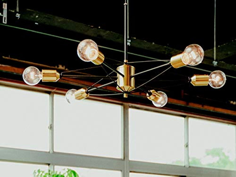 スチールライト ペンダントランプ 照明 かっこいい ミッドセンチュリー 明るい 6灯 カフェ ダイニング ヴィンテージ風ランプ