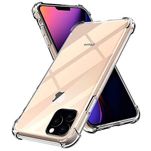 eleDSIGN iPhone 11 Hülle Silikon Clear Case, Transparent, Stoßfest, Handyhülle