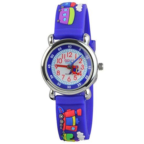 Teenie UW659B Kinder–Armbanduhr, Kautschukband blau