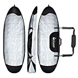 UCEDER Surfboard Bag Cover and Surfboard Travel Bag for Outdoor Travel,5'0',5'10',7'2',8'0',8'5',9'0',9'10' Surfboard Bag,Maximum Protection for Your Surfboard(7'2'')