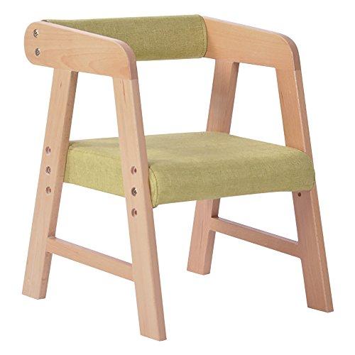 LJHA Tabouret pliable Tabouret créatif/enfants en bois massif fauteuil/tabouret d'étude réglable/tabouret de jardin d'enfants chaise patchwork (Couleur : Vert)