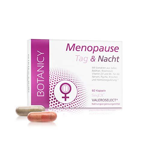MENOPAUSE Tag & Nacht, für die Wechseljahre, mit Traubensilberkerze, Maca und Salbei, natürlich und hormonfrei, gegen Symptome der Menopause (60 Kapseln)