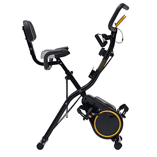 Bicicleta Estática Plegable con Respaldo, Bicicleta Fitness