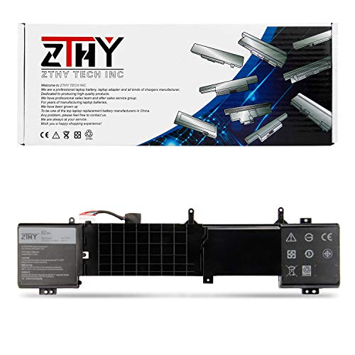 ZTHY 6JHDV Notebook Battery for Dell Alienware 17 R3 P43F002 R2 P43F001 ALW17ED-1728 2728 3728 3828 4718 4738 AW17R3-3758SLV 7092SLV 4175SLV 8342SLV 1675SLV Gaming Laptop 6JHCY 5046J YKWXX 8-Cell 92WH