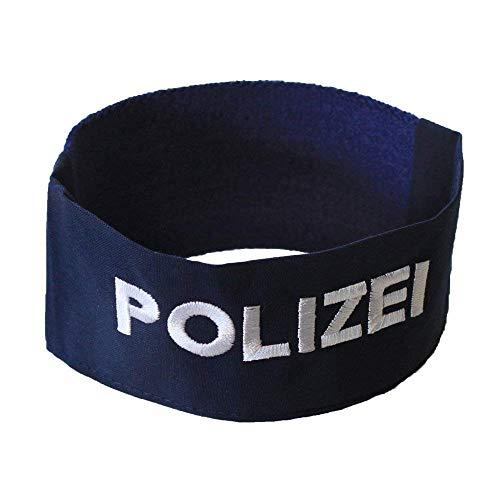 ARMBINDE Baumwolle mit Einstickung - Polizei - 40791 blau