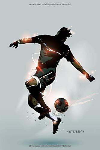 Notizbuch: Fussball Notizbuch A5 liniert | Notizheft | Tagebuch | Journal | Geschenk für Fussballer Fussballfans 3 | 120 Seiten