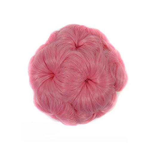 Elenxs Multi Couleurs Messy onduleux bouclés cheveux postiches, Extensions Curly Chouchous Fleurs clip Chignons Ponytail postiches