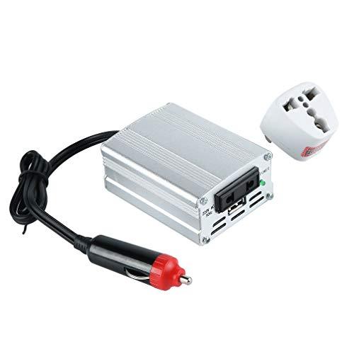 CandyTT XYA200 Convertidor de Potencia de Color Plateado de 700 W, convertidor de Coche, convertidor de Potencia de Entrada de 12 V, Adaptador de Cargador de Fuente de alimentación del vehículo