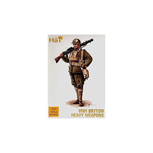 Hat Industrie WW1British armi pesanti 1: 72–32figures (8pose) Plastica Modello Kit richiede assemblaggio e pittura. Colla e la vernice non incluse. Kit numero 8177
