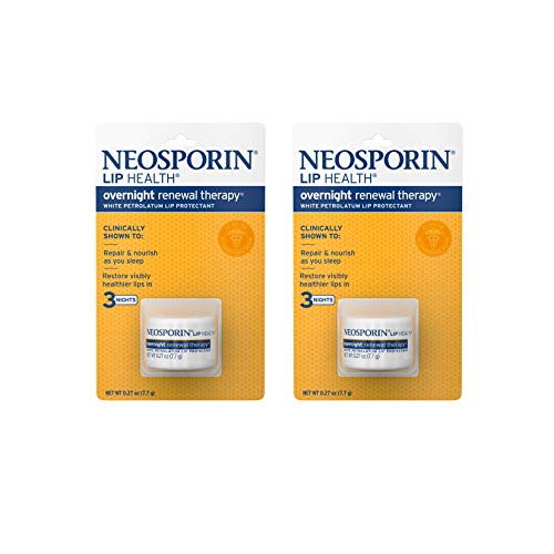 Neosporin Lip Health Overnight Renewal Therapy, 0.27 Oz, Pack of 2