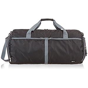 Amazon Basics Packable Travel Gym Duffel Bag - 23 Inch, Black