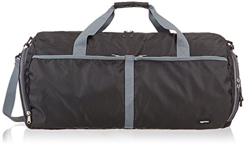 AmazonBasics Packable Travel Gym Duffel Bag - 23 Inch, Black