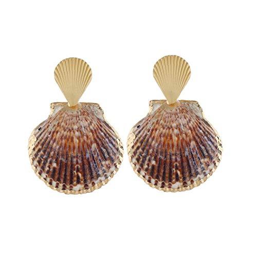 hvxjxk Forma Colorido Shell Mar Shell Pendiente Gota Cuelga Los Pendientes Creativa Concha Joyería De La Mujer Hombre 1pair 1905ox65 Tipo