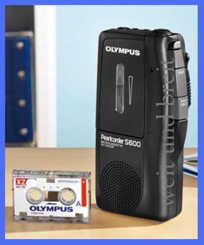 Olympus S600 Pearlcorder Diktiergerät Microcassette Recorder 60min