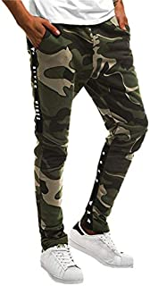 FONMA Men Splicing Camouflage Overalls Casual Pocket Sport Work Casual Trouser Pants