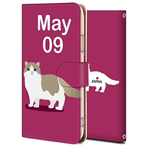 Galaxy Note 10+ SCV45 手帳 ケース SC-01M 保護 カバー ギャラクシー ノート10 専用 耐衝撃 カメラ穴 スタンド機能 高級 PUレザー Galaxy 誕生日5月9日-猫 アニメ アニマル かわいい 11905