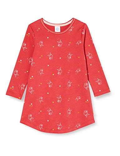 Sanetta Mädchen Sleepshirt Kirsche Nachthemd, rot, 140