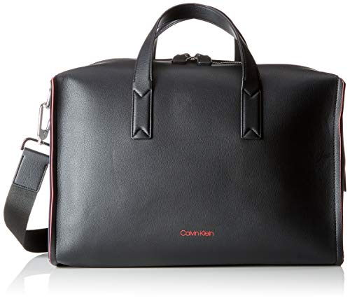 Calvin Klein Jeans Heren Double Edge Medium Duffle Hengseltas, Zwart (Black/Navy/Rose), 22x26x41 cm