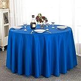 LIUJIU Mantel de mesa, mantel de poliéster adecuado para mesa de comedor, muy adecuado para uso en banquetes, 1,4 x 1,4 m