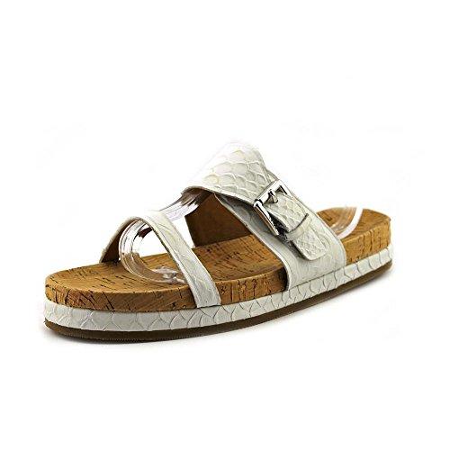 COACH Women's Sunny Leather Sandals, Parchment Size 7