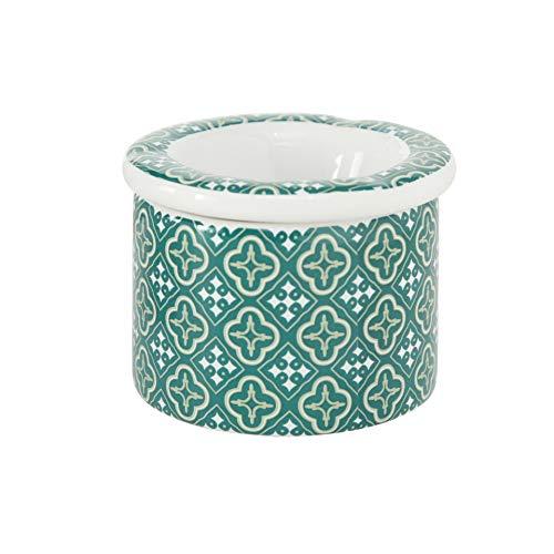 Home Collection CasaJame 2er Set Windaschenbecher Sturmaschenbecher Ascher Aschenbecher weiß/grün Marokko H7cm