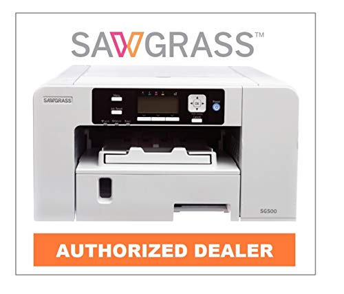Sawgrass Virtuoso SG500 Sublimation Printer with Sublijet UHD Ink. Bundle with 220 Sheets of 8-1/2 x...