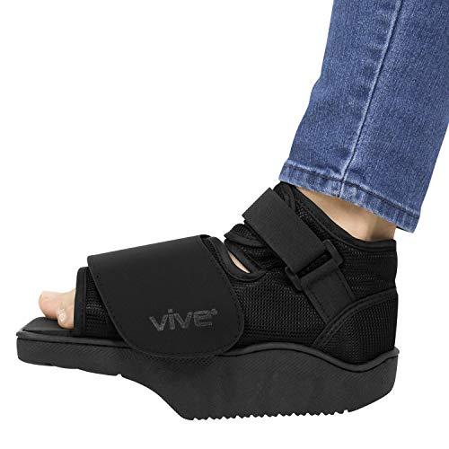 Vive Offload Post-Op Shoe - Botas de cuña delantera para lesiones en el dedo del pie roto, no pesas, recuperación médica para cirugía de pies, dedos de martillo, juanetes, dolor de pies - ortopédico ancho (pequeño)
