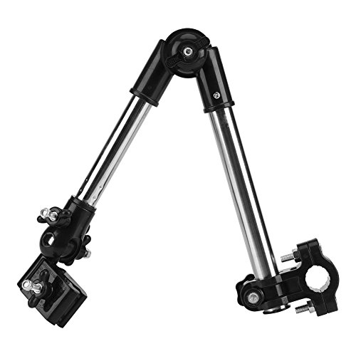 Paragüero para cochecito, 360 ° Ajustable Paraguas para bicicleta Soporte para montaje en estiramiento Cochecito para bebé Silla de paseo de ruedas Accesorios para sillas (Negro)