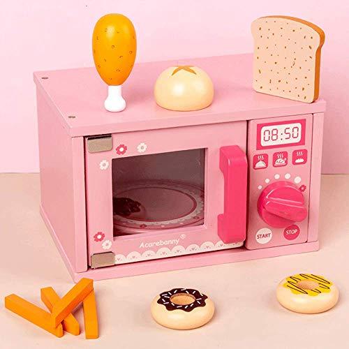 PETRLOY Emulación Horno de microondas Juguete para niños Juguete de simulación Cocina Juego de Cocina con Accesorios de Comida para Jugar Cocina Jugar Juguetes de Cocina niños