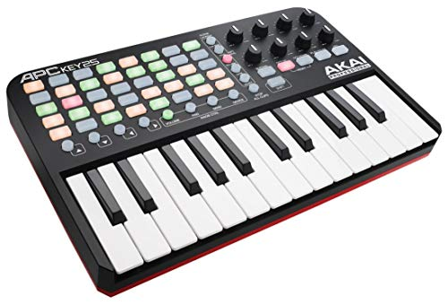 AKAI Professional APC Key 25 - USB MIDI Keyboard Controller for Ableton Live with 25 Piano Style Keys, 40 Buttons and 8 Assignable Encoders