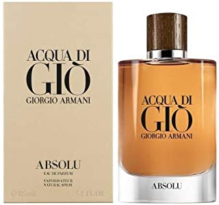 Acqua Di Gio Absolu C o l o g ne by Giorgio Armani EDP Spray men 4.2 OZ. 125 ml.