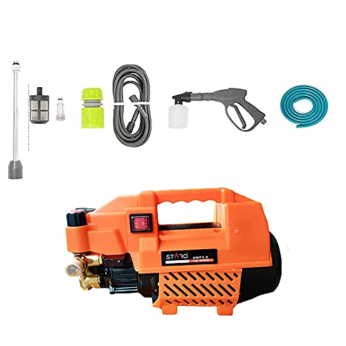 STARQ AWP2.8 2800 W Orange Heavy Duty (200-330 Bar) car Pressure Washer with Pressure Control Knob and Water Proof. 1 Year Warranty