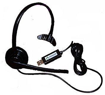 Nuance Dragon NaturallySpeaking USB Headset with Noise Cancelling boom...