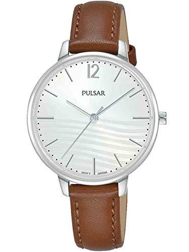 PULSAR Damen Analog Quarz Uhr mit Echtes Leder Armband PH8487X1