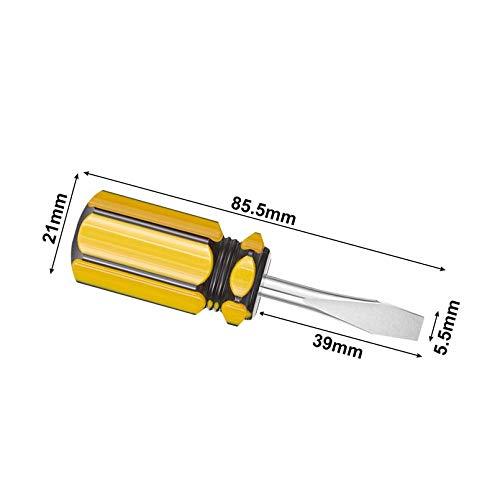 Buspoll Mini screwdriver, two-color small handle screwdriver, Phillips screwdriver and flat head screwdriver