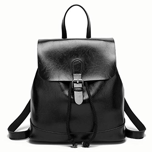 CGOH -Ladies fashion retro pu simple travel large capacity bag DIY (Color : Black, Size : 34 * 15 * 34cm)