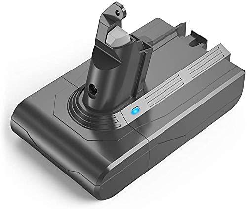 YABER - Batería de repuesto para aspiradora Dyson V6, DC62, DC59, DC61, DC58, DC72, DC74, SV03 y SV09 (21,6 V, ion de litio, DC62, incluye 4 tornillos)