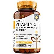 Vitamin C - Hochdosiert mit 1000 mg Vitamin C pro Tagesdosis - 180 vegane Tabletten - Bioflavonoide-Komplex aus der Bitterorange - 6 Monatsvorrat - Ohne unerwünschte Zusätze