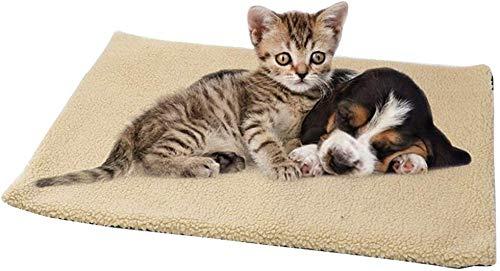 Eamplest Selbstheizende Decke für Katzen & Hunde, Wärmematte Selbstheizende, Katzendecken Haustierdecke, selbstheizend, waschbar, Innovative & Umweltfreundliche Wärmematte, Katzendecke (Gelb 60×45cm)