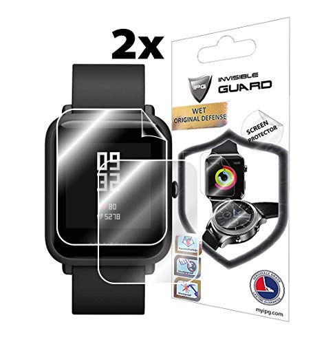 for XIAOMI HUAMI AMAZFIT BIP (2X) Smartwatch Screen Protector Invisible Ultra HD Clear Film Anti Scratch Skin Guard - Smooth/Self-Healing/Bubble -Free by IPG