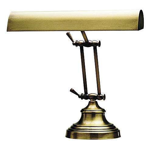 "House of Troy AP14-41-71 Advent Piano/Desk Lamp, 14"", Antique Brass"