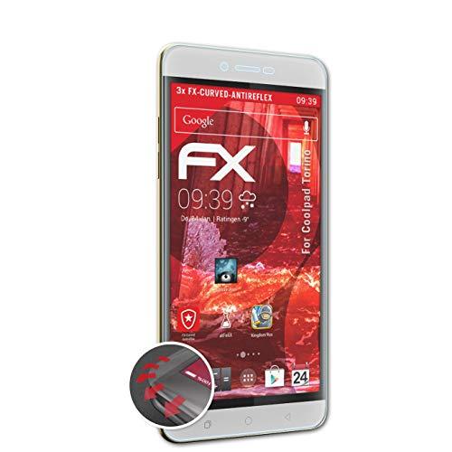 atFolix Schutzfolie kompatibel mit Coolpad Torino Folie, entspiegelnde & Flexible FX Bildschirmschutzfolie (3X)