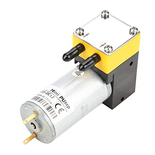 Membranpumpe, DC 12V 0,4-1 l/min Elektrische Mikrovakuumpumpe Selbstansaugende Wasserpumpe für Instrumente, Geräte, chemische Industrie, Haushaltsgeräte