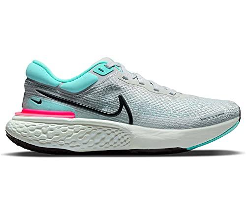 Nike ZoomX Invincible Run Flyknit, Scarpe da Ginnastica Uomo, Grey Fog/Black-Dynamic Turq-Hy, 42 EU