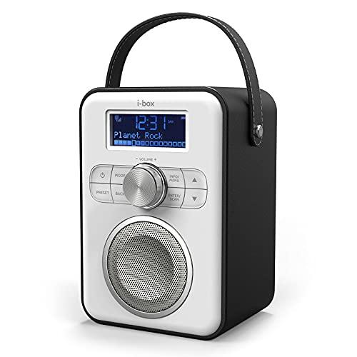 Radio Portátil DAB/DAB+/FM con Bluetooth, Radio Digital Bateria Recargable Vintage hasta 10 Horas de Reproducción, Inspiración Retro