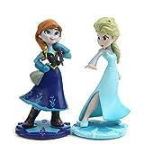 2 Unids / Set 8,5 Cm Princesa Anna Elsa Figura Juguetes Modelo De Belleza Muñecas para Niñas...