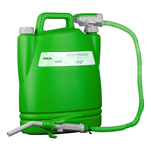 TERA PUMP Makes Your Life Easy! Backsaver! Heavy Duty Advanced Tech Perfect Pour Watering Can w/Rotating Nozzle for Patio Indoor Plant Flower Garden Feed
