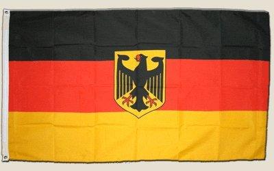 Flagge Deutschland mit Adler - 90 x 150 cm