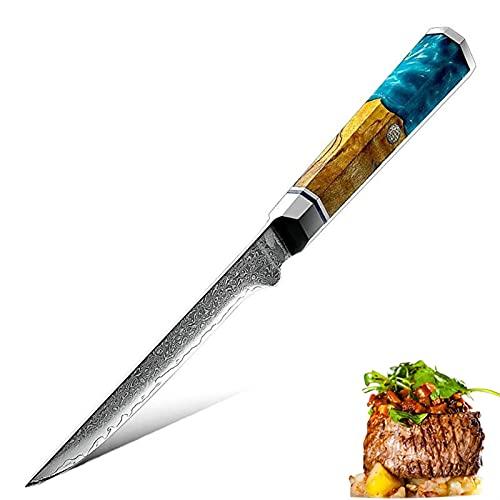 Cuchillos de cocina Cuchillo de deshuesado CHEF BARBACOA Herramientas Fileteando Cortar Herramienta de Carnicería VG10 Damasco japonés de acero alta dureza